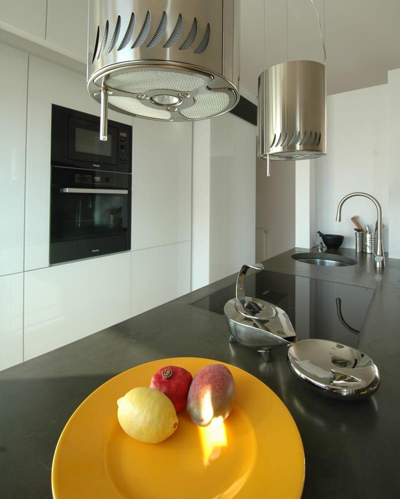Küche Weiß Beton